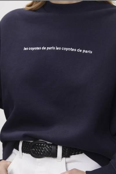 Bilde av LES COYOTES DE PARIS CHARLOT SWEATSHIRT NAVY