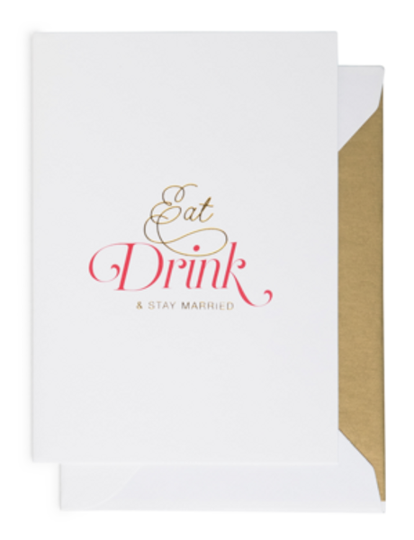 Bilde av CARDSOME EAT DRINK AND STAY MARRIED