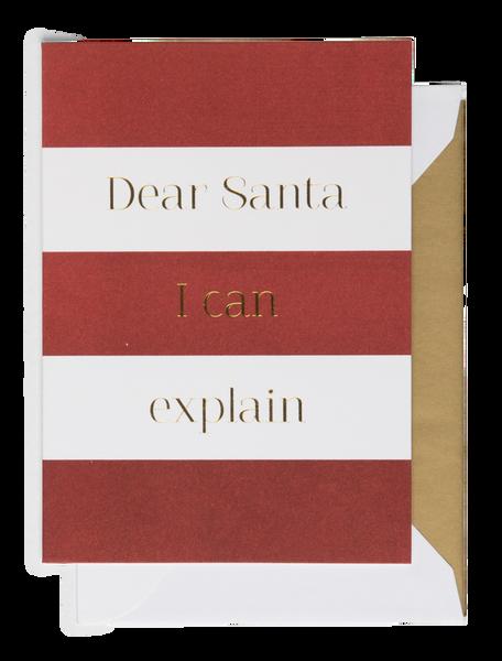 Bilde av CARDSOME DEAR SANTA I CAN EXPLAIN