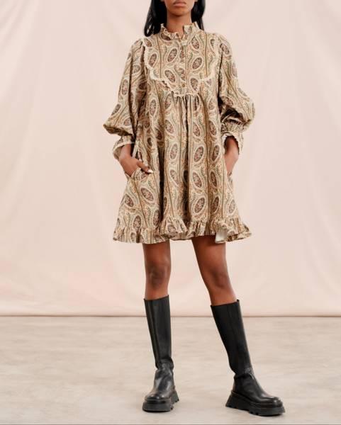 Bilde av byTIMO BABY CORD SHIFT DRESS PAISLEY