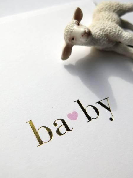 Bilde av CARDSOME BABY PINK HEART WHITE