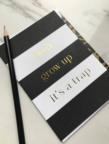 Bilde av CARDSOME Don´t grow up it´s a trap